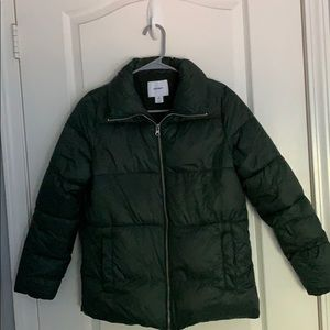 OLD NAVY Green Puffy Jacket